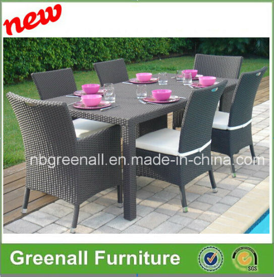 Outdoor Poly Rattan Wicker Table Setting pictures & photos