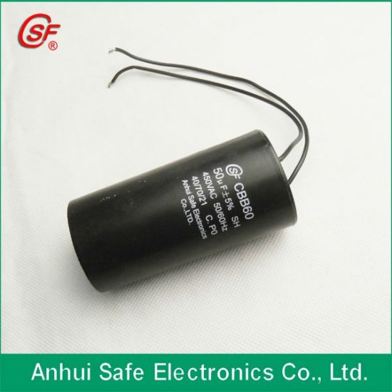 White Plastic Case Cbb60 35UF 250V Capacitor with Wholesale Price