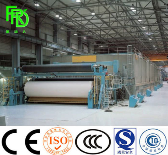 1760mm High Speed Double A4 Office Copy Print Paper Making Machine, Notebook Making Machine Equipment for The Production of A4 Paper