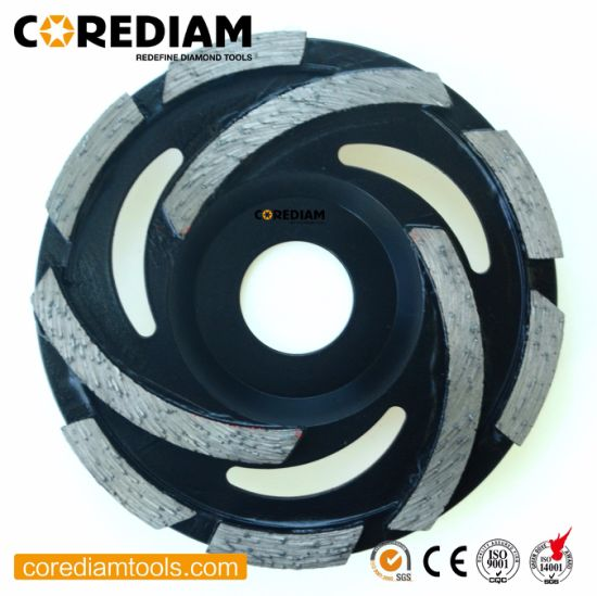 105mm-180mm Diamond Cyclone Cup Wheel/Diamond Grinding Cup Wheel/Diamond Tool pictures & photos