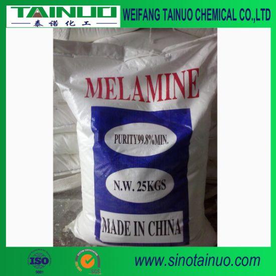 Sichuan Produce Melamine 99.8% Used for Making Melamine Resin