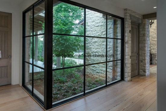 Contemporary Modern Steel Doors and Window with Double Pane Glass