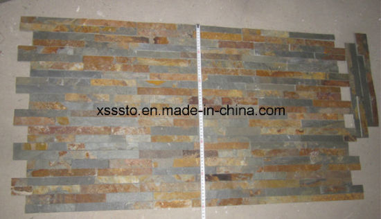 Natural Rust Color Slate Tiles Stone Wall for Sale pictures & photos
