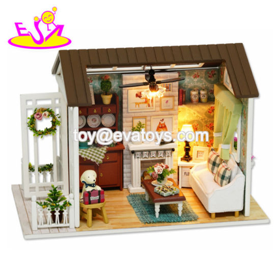 China Handmade Diy Wooden Dollhouse Lighting Kit For Kids W06a344