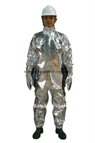 Firefighters Man Safety Working Used Fire Suits En 469 Fire Proof Aramid Firefighting Suit