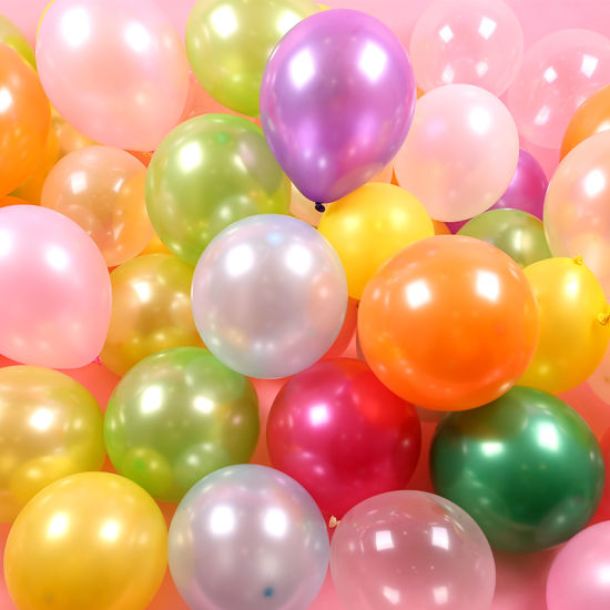 Wholesale 12-Inch Latex Mixed Colors Pearl Balloons for Party Decoration
