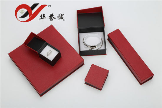 Red Collapsible Magnetic Closure Paper Jewelry Gifts Boxes Packaging Box pictures & photos