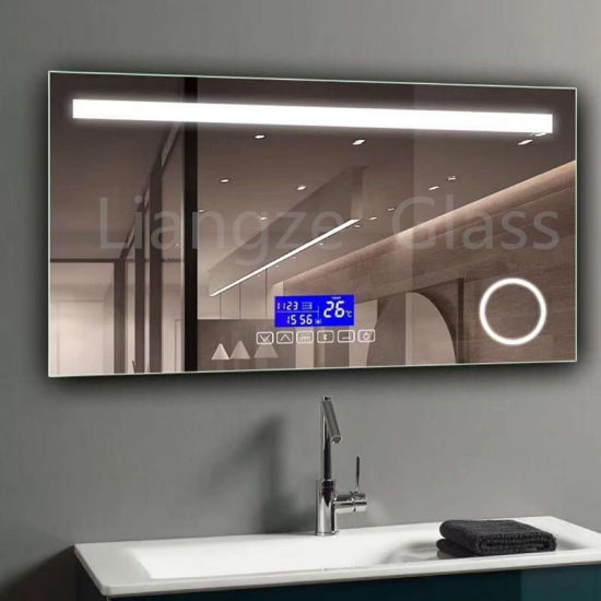 Customized Makeup Smart Backlit LED Fogless Illuminated Bathroom Mirror  With Demister