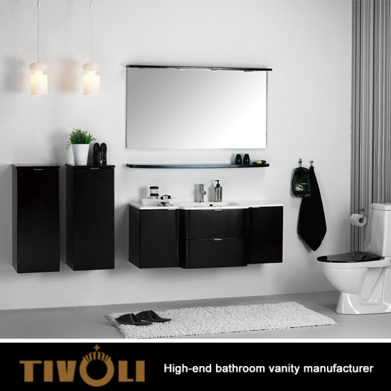 Small Mdf Half Bathroom Vanity Melamine Modern Luxury Design Tv 0411