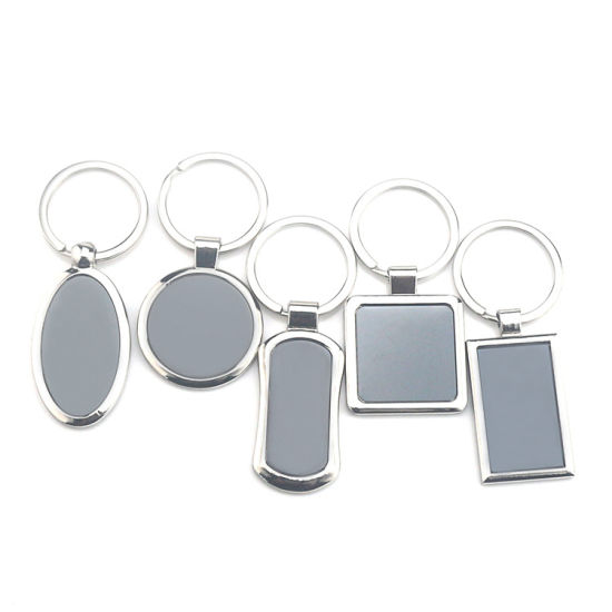 China OEM 3D Custom Logo Metal Keyring Promotion Blank