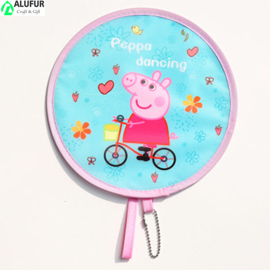 Foldable Mini Round Fan Wih Hook Chain Gift Cool Summer Promo Product