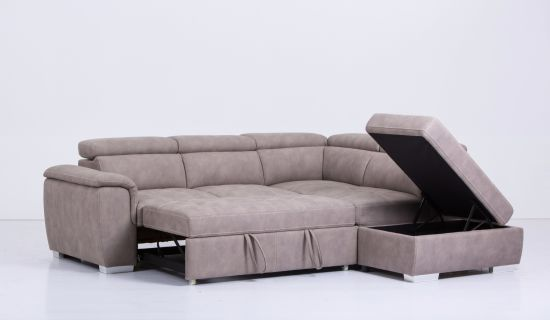 China L Shape Sectional Leather Sofa, Sofa Bed L Shaped Couch