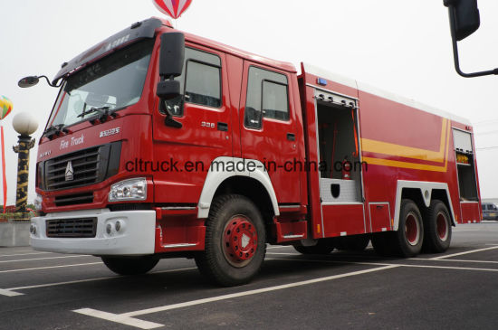 Sinotruck 6*4 15m5 Size Water+Foam Fire Vehicle for Fire Fighting pictures & photos