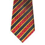 Men's Wide Stipe Pattern Woven Silk Neckties