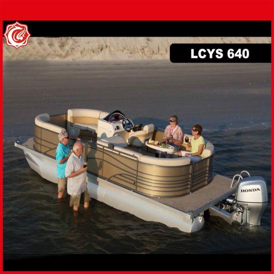 21FT Alloy Floating Pontoon Boat Aluminum Pontoon Boat