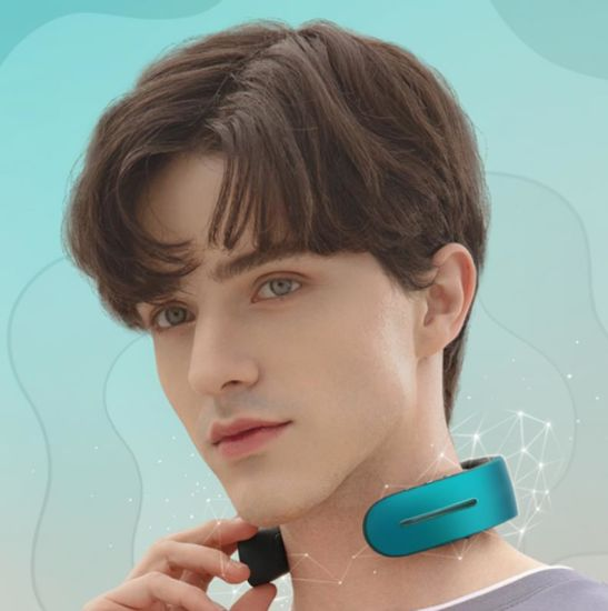 Smart 2020 Portable Mini Electric Wireless Neck Massager 360 Infrared Physiotherapy Intelligent Neck Massager