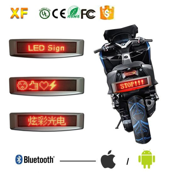 Custom Made 12X72r 12V Motorcycle/Batery Bluetooth LED Sign with IR Control and Support Multi-Language