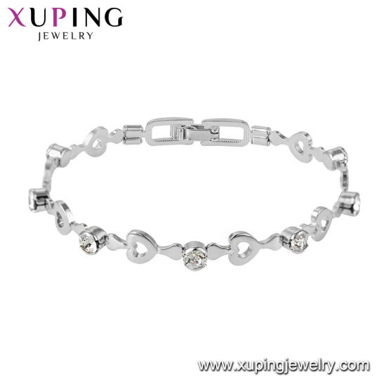 Stainless Steel Jewelry Bracelet With Heart Lock