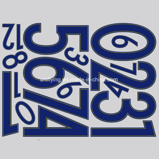 Hotsell custom soccer jersey letters and numbers heat transfer stickers
