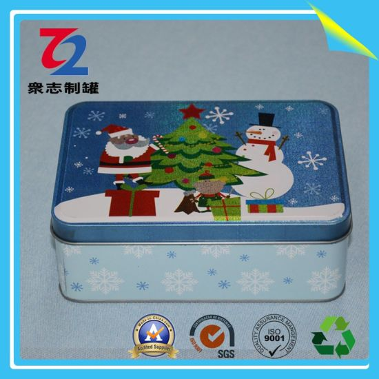 Hinged Rectangular Metal Storage Box Gift Tin for Tea Party pictures & photos
