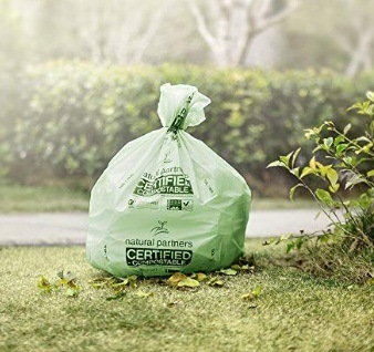 Freedom Living Biodegradable Heavy Duty Trash Bag for Yard, Kitchen, Lawn, Contractor or Office