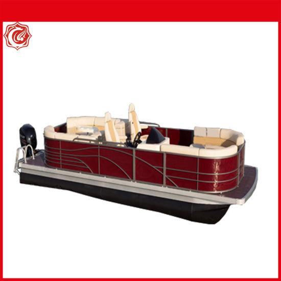 Customized Sizes Available Aluminum Pontoon Boat