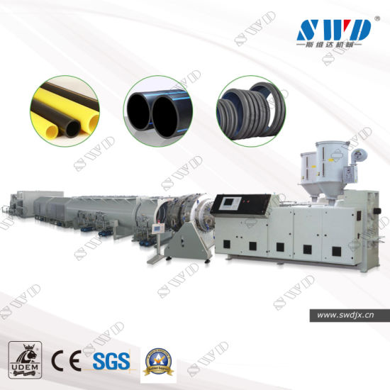 Single Screw Extruder HDPE/LDPE/PE Water&Gas&Drainage Pipe Extrusion Machine Production Line