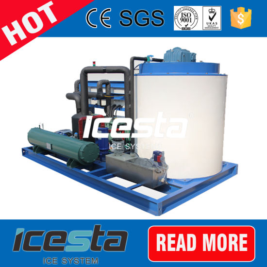 Icesta Comapct Design Flake Ice Machine in Malaysia for Dye Chemical Industry