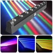 Auto/Sound/DMX/Program Stage 8 Eyes RGBW LED Beam Moving Head DJ Bar Light