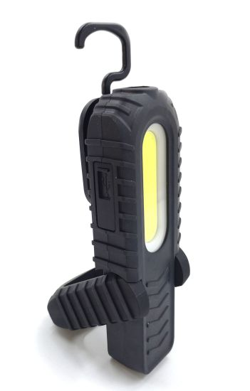 Magnetic USB Rechargeable COB LED Work Light Flashlight Inspection Folding Torch