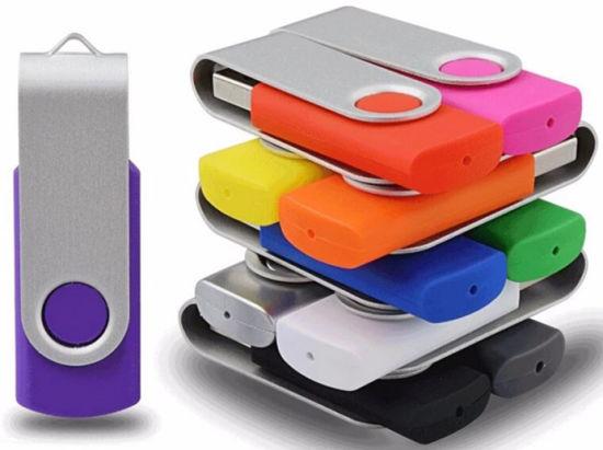 Promotional Swivel USB Flash Drive Colorful Bulk Cheap Thumb Drive 2GB 4G 8gig