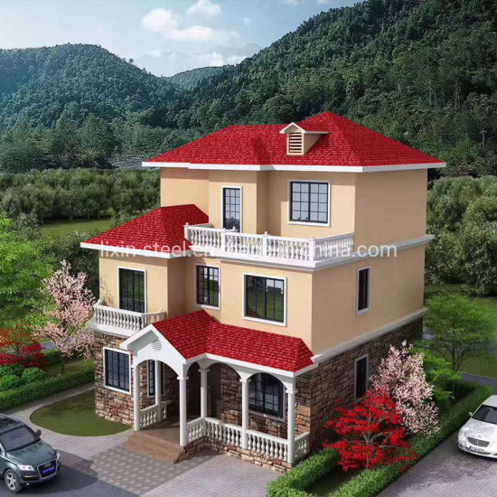 New Design Prefabricated Building Steel Structure Frame Villa Prefab House