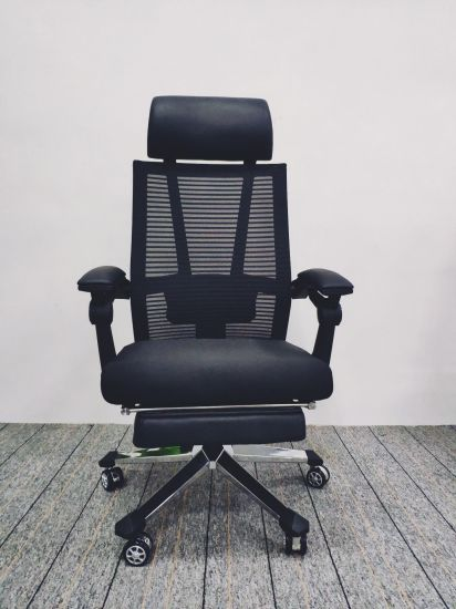 Computer Chair Household Reclining Chair Elevating and Lowering Chair Office Chair Student Ergonomic Net Chair Backrest Chair-6128A
