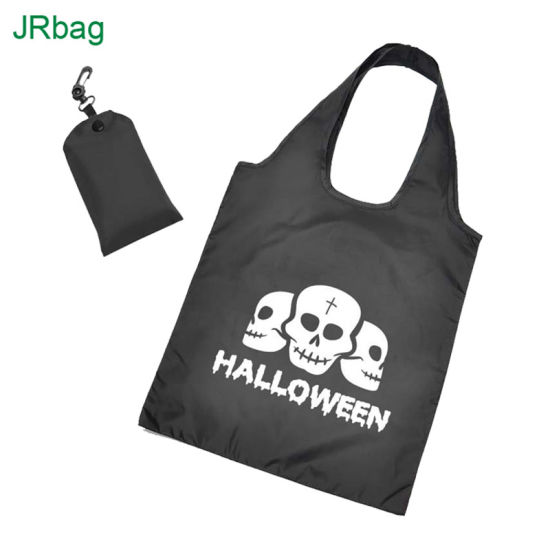 Cheap Eco-Friendly Polyester Foldable Shopping Bag with Clip