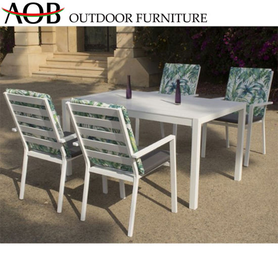 Modern Wholesale Outdoor Living Garden Patio Hotel Bar Cafe Home Furniture Dining Table Set