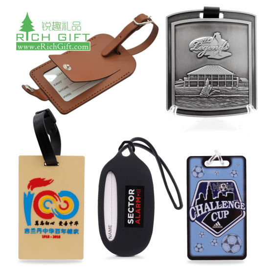 Wholesale Bulk Custom Logo Personalised Travel Sublimation Printed PU Leather Metal Golf Bag Tag 3D Rubber Plastic Silicone Soft PVC Baggage ID Name Luggage Tag pictures & photos