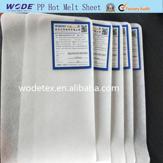 Solvent Thermo Shoe Toe Puff and Counter Ping Pong Hot Melt Sheet