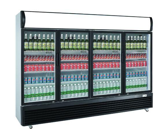 Supermarket Upright Display Refrigerator Soft Drinks Display Showcase LG-1620