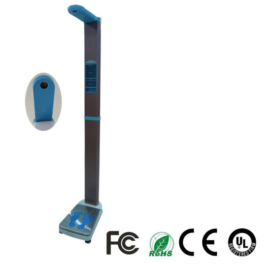 Foldable Ultrasonic Electronic Height and Weight Body Scale with BMI Msluw04