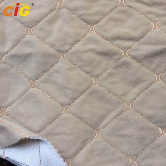 Auto Fabric with Various Embroidery Designs for Car Seat / Sofa / Furniture