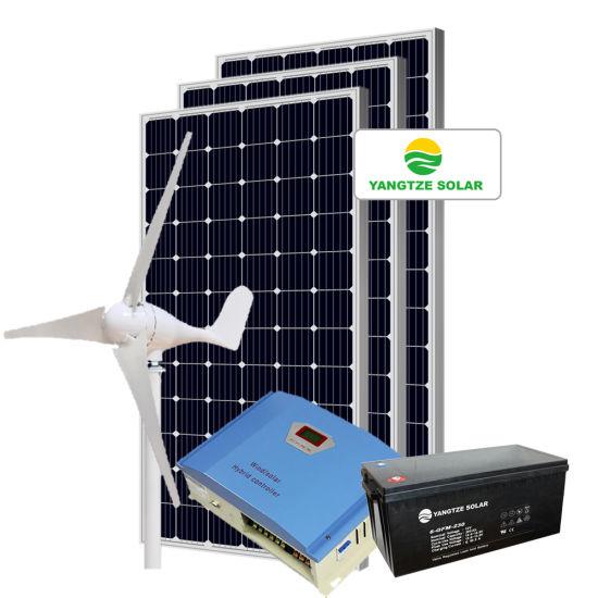 High Efficiency Yangtze 5kw Hybrid Solar Wind Power System for Home
