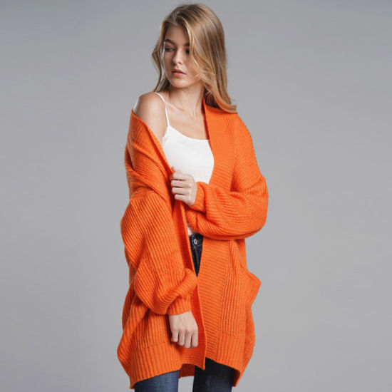 Autumn Colorful Stripe Seven Sleeve Thin Cardigan Sweater Women Loose Cardigan