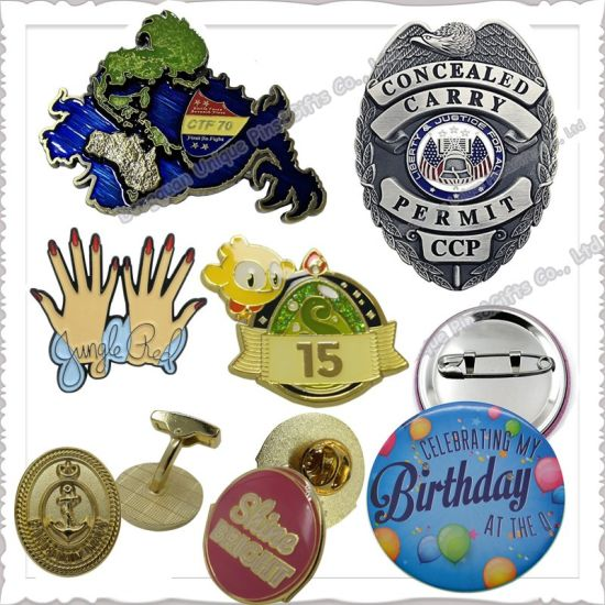 Free Sample Custom Design Lapel Pin Factory Fashion Metal Crafts Decoration Brooks Enamel Carnival Emblem Military Police Button Badge for Promotional Gifts