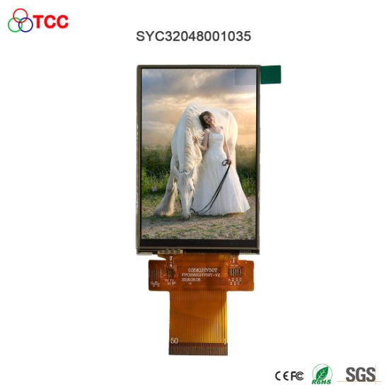 50 Pin 320X480 Graphic Ili9488 Parallel/Spi Interface 3.5 Inch TFT LCD Display Module