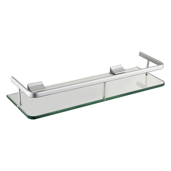 Bathroom Shower Glass Shelf Corner Rectangle Rack Towel Rail Organizer Holder !