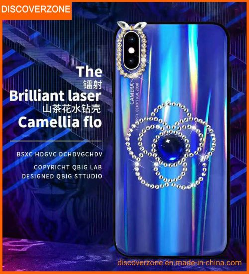 Camellia TPU+PC Flower Mobile Phone Case Aurora iPhone Cover in Stock pictures & photos