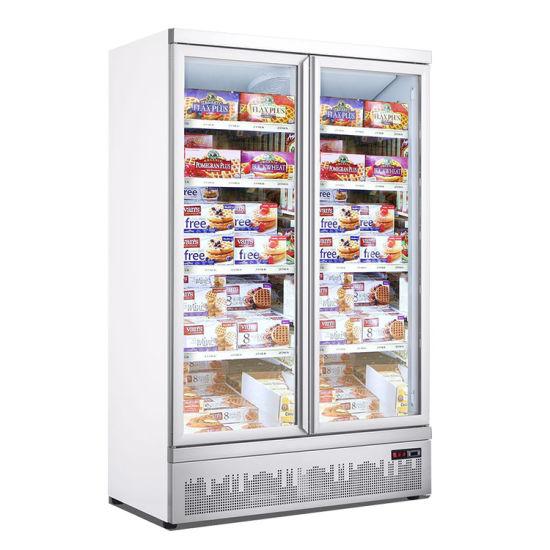 Big Discount Ce Approved Double Door Supermarket Freezer
