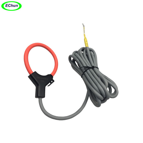 China Manufacturer Flexible Rogowski Coil 500A 17.2mv 20.64mv Current Transformer