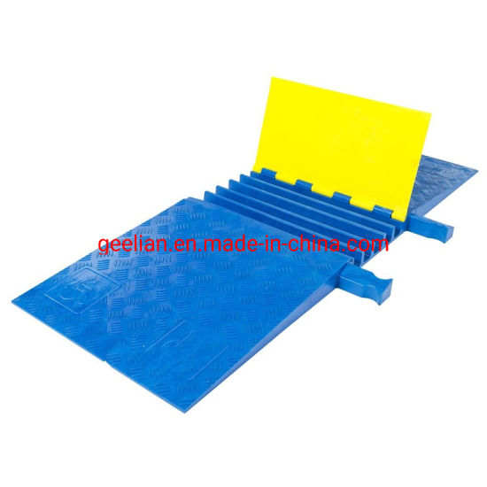1/2/3/4/5 Channel Rubber Cable Ramp Protector for Traffic Safety Cable Protector 2 Channels