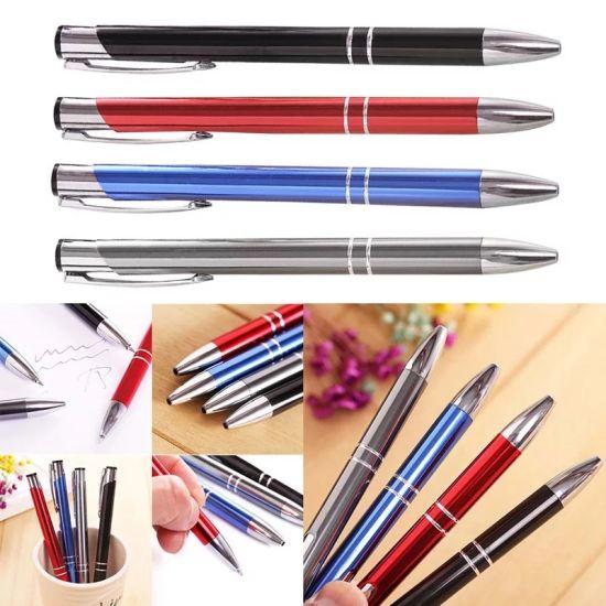 Custom Promotional Advertising White Metal Aluminum Pen